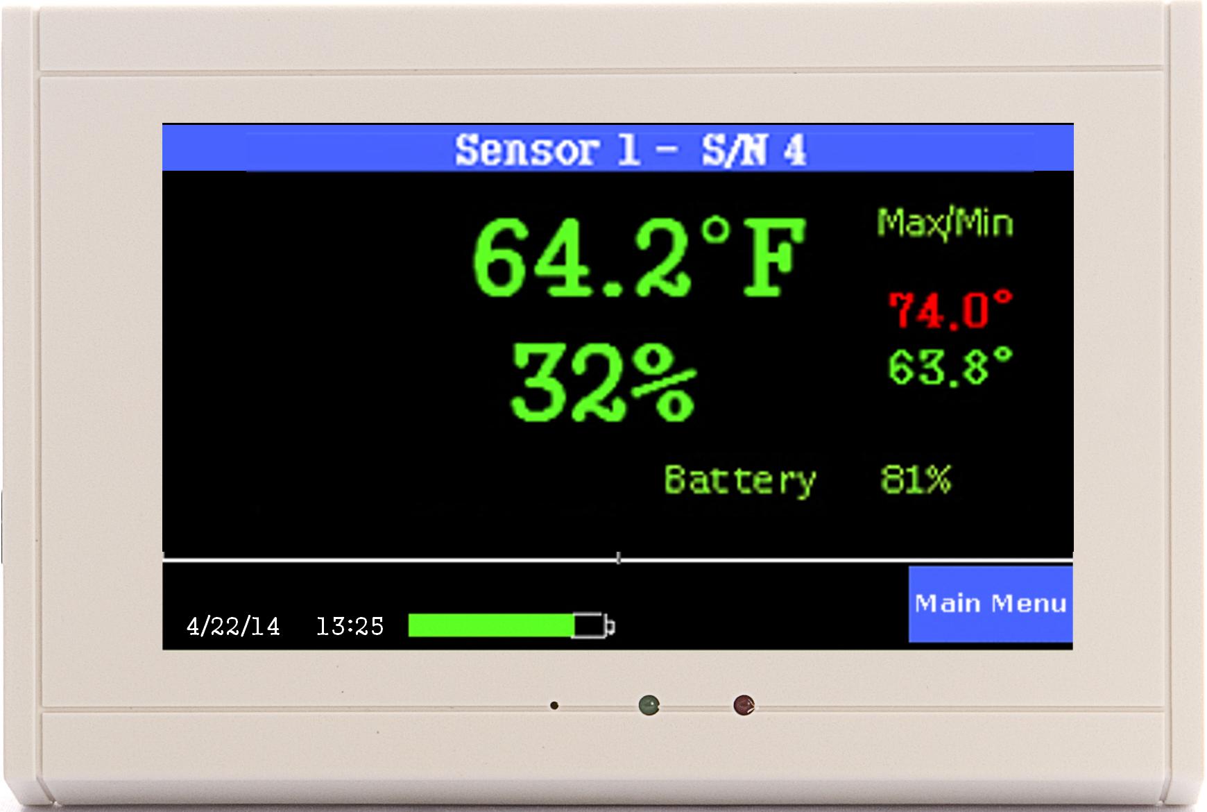 TV2 with one temp/RH sensor