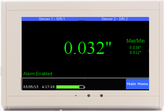 TV2 room pressure monitor
