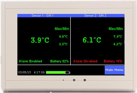 TV2 monitoring two refrigeratos