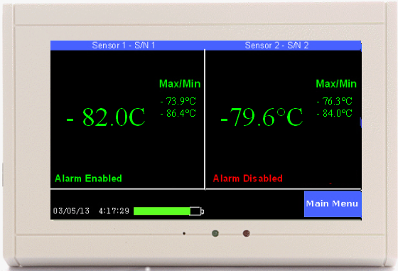 TV2 monitoring 2 -80 freezers