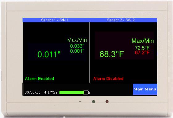 TV2 display w pressure & temp